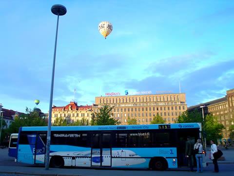 En globo sobre Finlandia