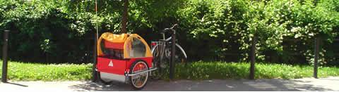 Bicicletas con carros para los niños