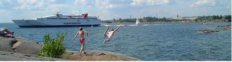 Sabado en la isla Suomenlinna